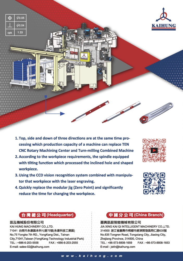 Who Makes Machinery in Taiwan KAI HUNG MACHINERY CO., LTD.
