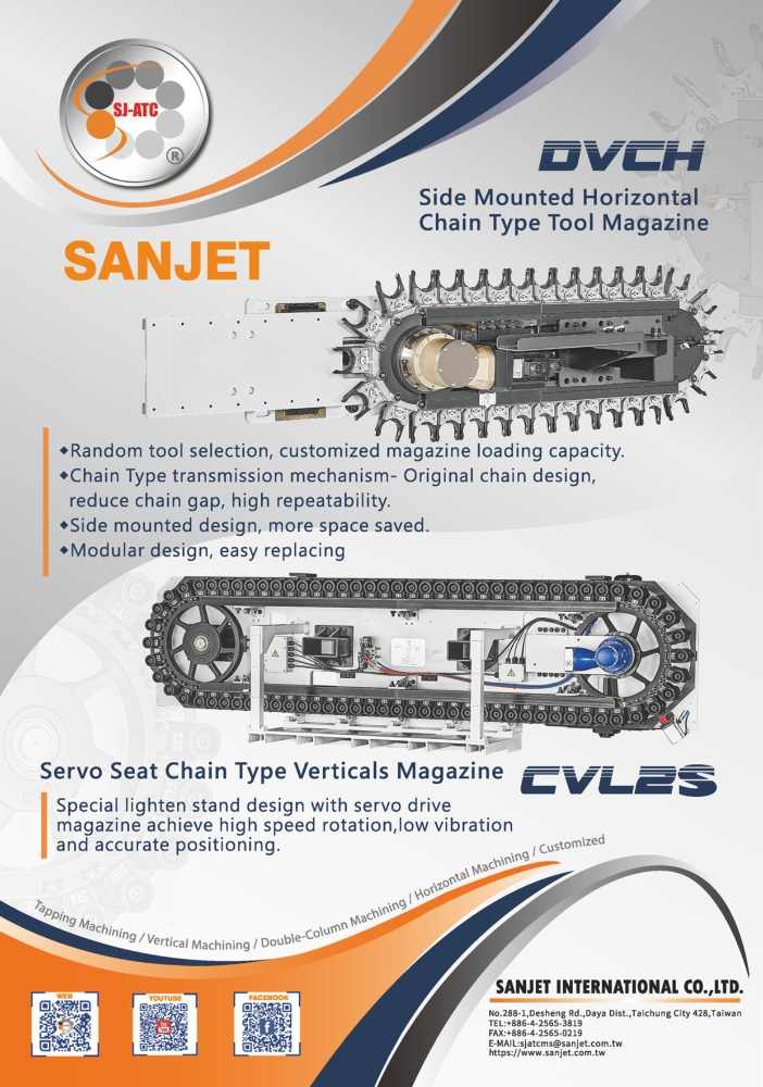 Who Makes Machinery in Taiwan SANJET INTERNATIONAL CO., LTD.