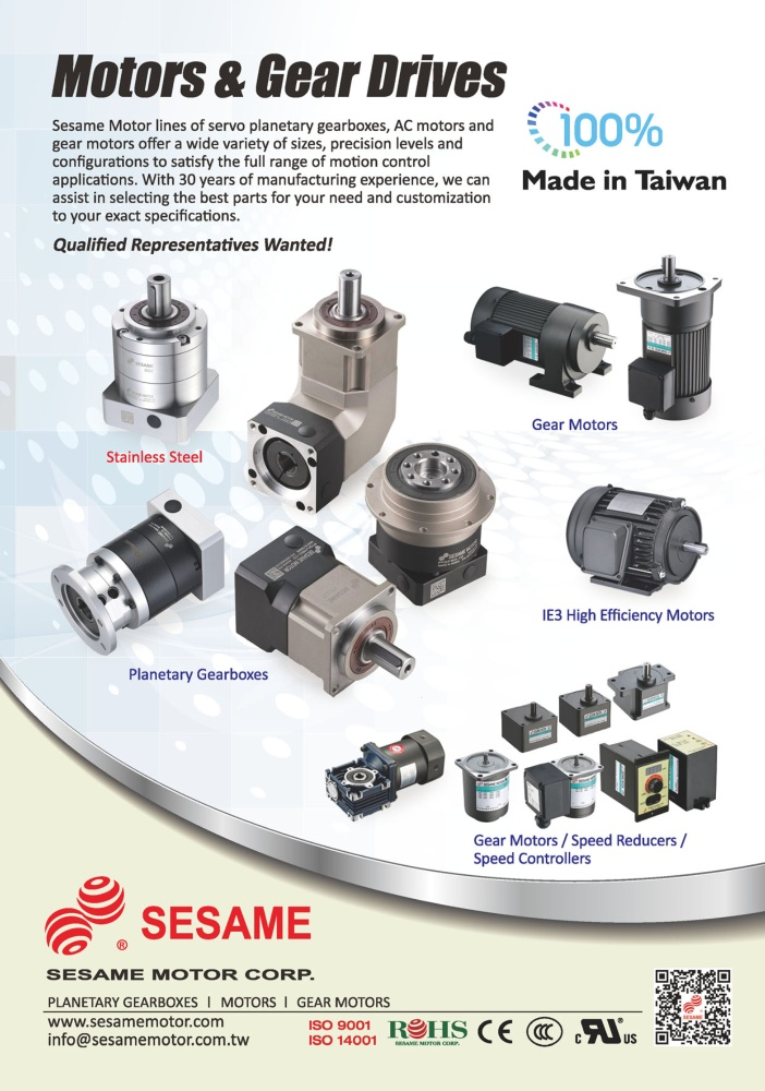 Who Makes Machinery in Taiwan SESAME MOTOR CORP.