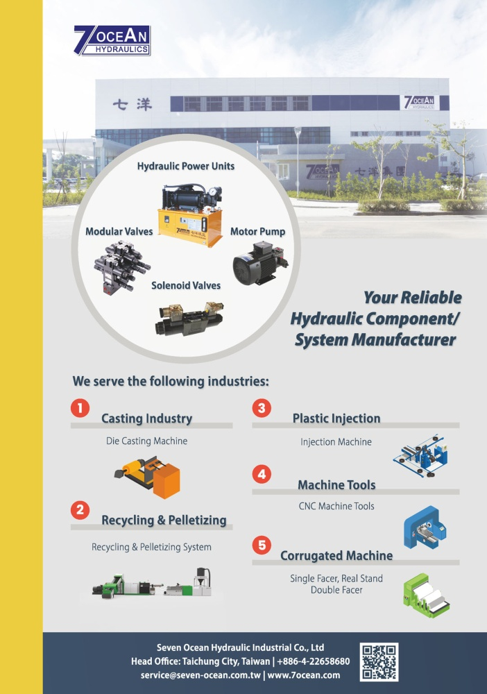 Who Makes Machinery in Taiwan SEVEN OCEAN HYDRAULIC INDUSTRIAL CO., LTD.