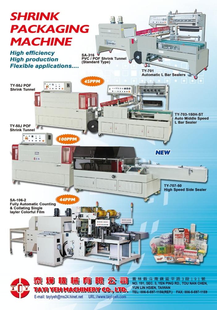 Who Makes Machinery in Taiwan TAYI YEH MACHINERY CO., LTD.