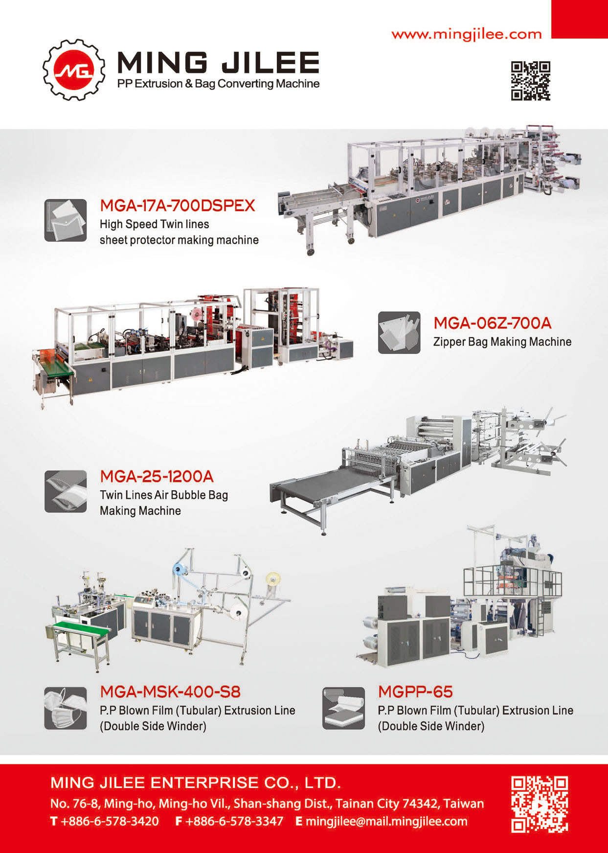 Who Makes Machinery in Taiwan MING JILEE ENTERPRISE CO., LTD.