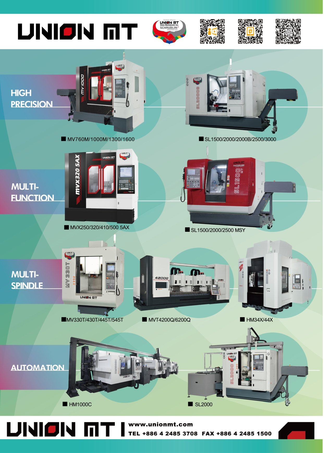 Who Makes Machinery in Taiwan UNION MECHATRONIC INC.