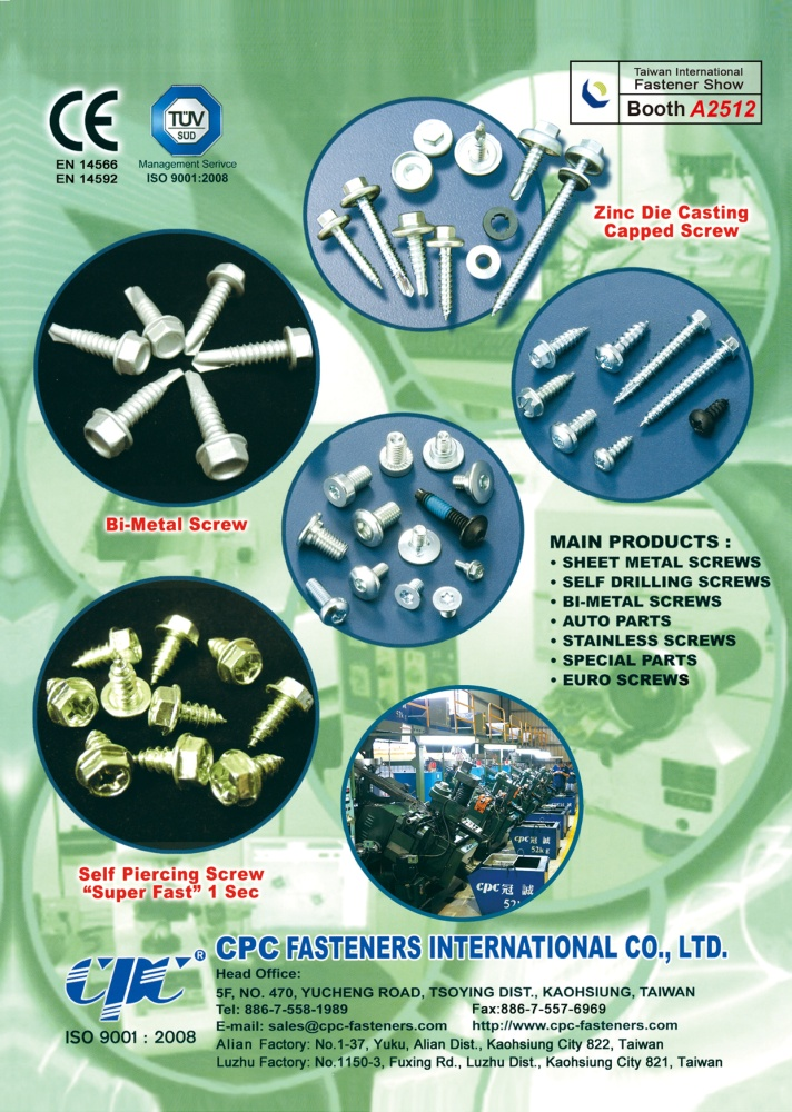 Taiwan International Fastener Show CPC FASTENERS INTERNATIONAL CO., LTD.