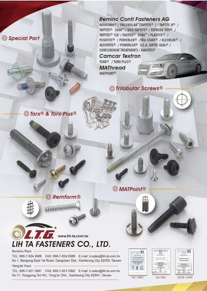 Taiwan International Fastener Show LIH TA FASTENERS CO., LTD.