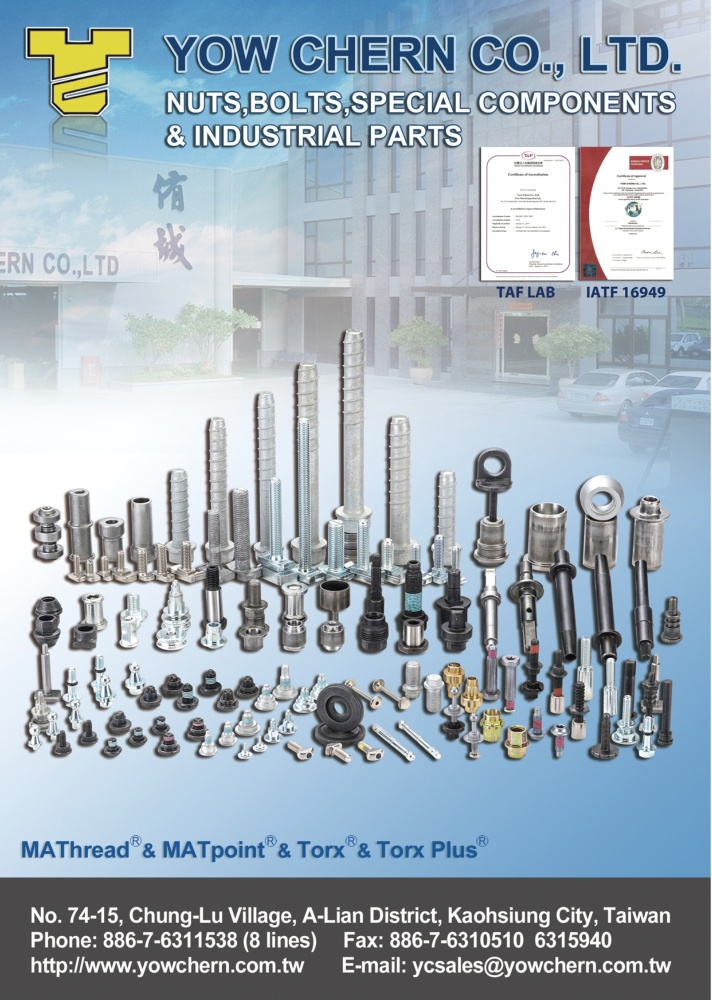 Taiwan International Fastener Show YOW CHERN CO., LTD.
