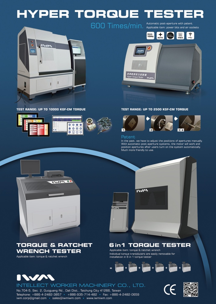 Taiwan Industrial Suppliers INTELLECT WORKER MACHINERY CO., LTD.