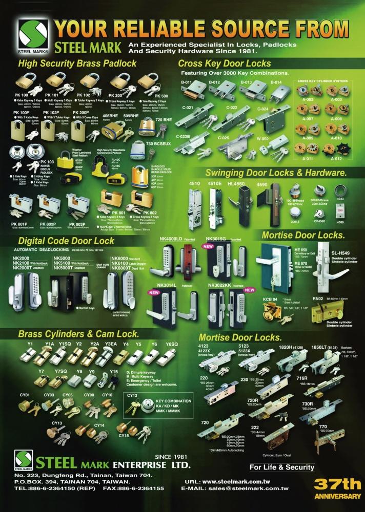 Taiwan Industrial Suppliers STEEL MARK ENTERPRISE LTD.