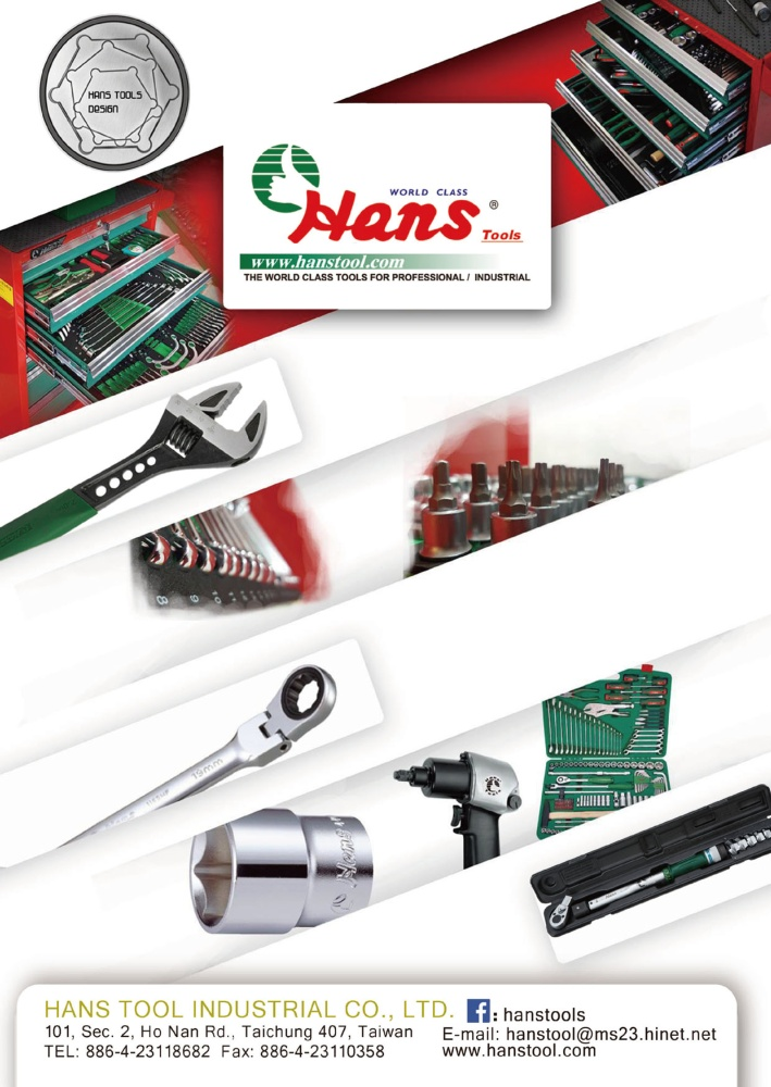 Taiwan Industrial Suppliers HANS TOOL INDUSTRIAL CO., LTD.