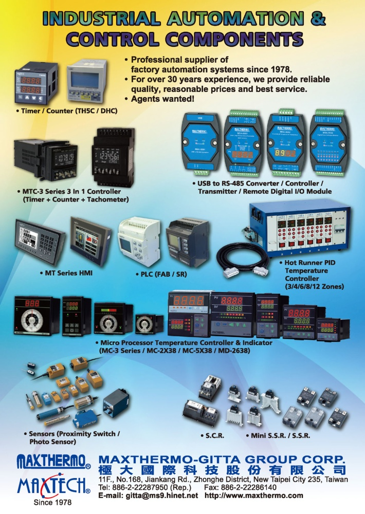 Taiwan Industrial Suppliers MAXTHERMO-GITTA GROUP CORP.