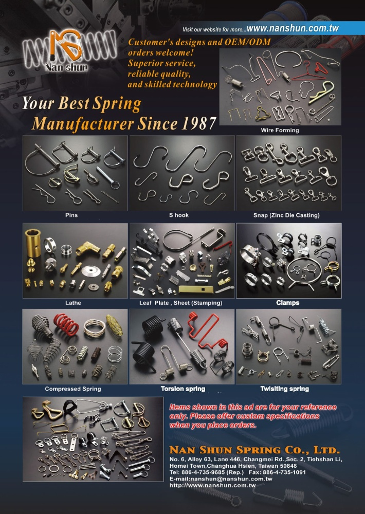 Taiwan Industrial Suppliers NAN SHUN SPRING CO., LTD.