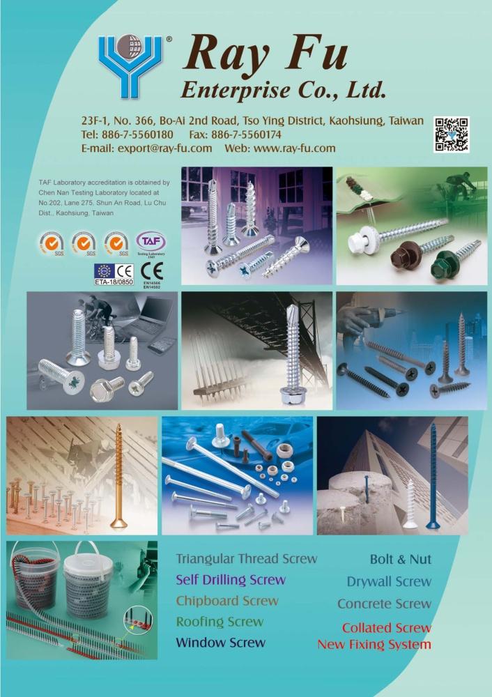 Taiwan Industrial Suppliers RAY FU ENTERPRISE CO., LTD.