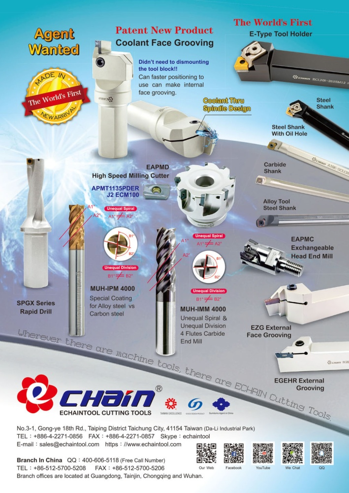 Middle East & Central Asia Special ECHAINTOOL PRECISION CO., LTD.