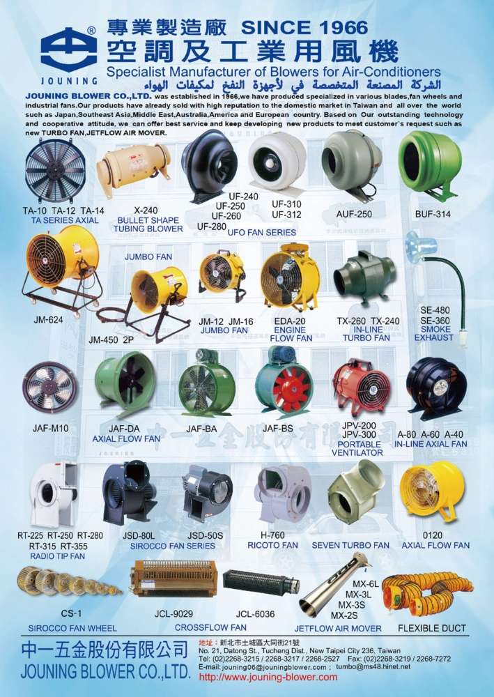 Middle East & Central Asia Special JOUNING BLOWER CO., LTD.