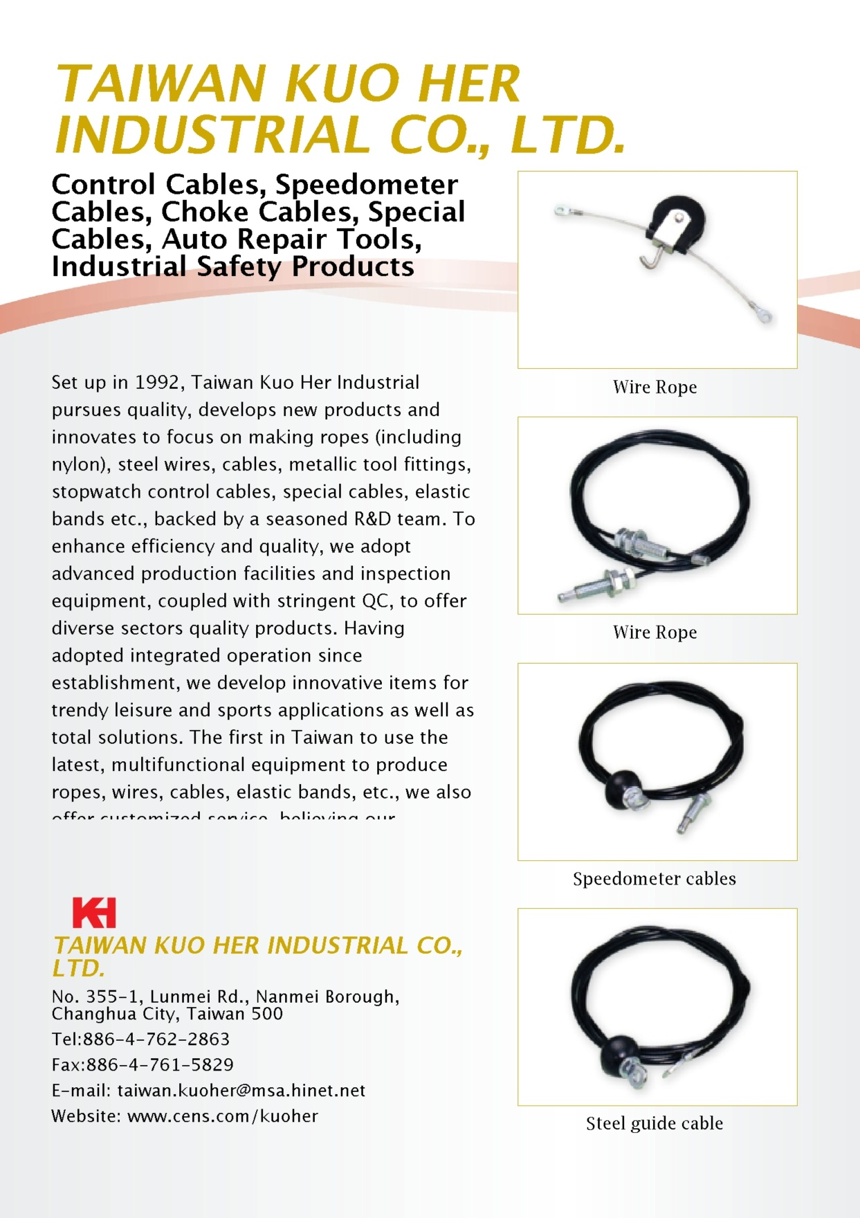 TAIWAN KUO HER INDUSTRIAL CO., LTD.