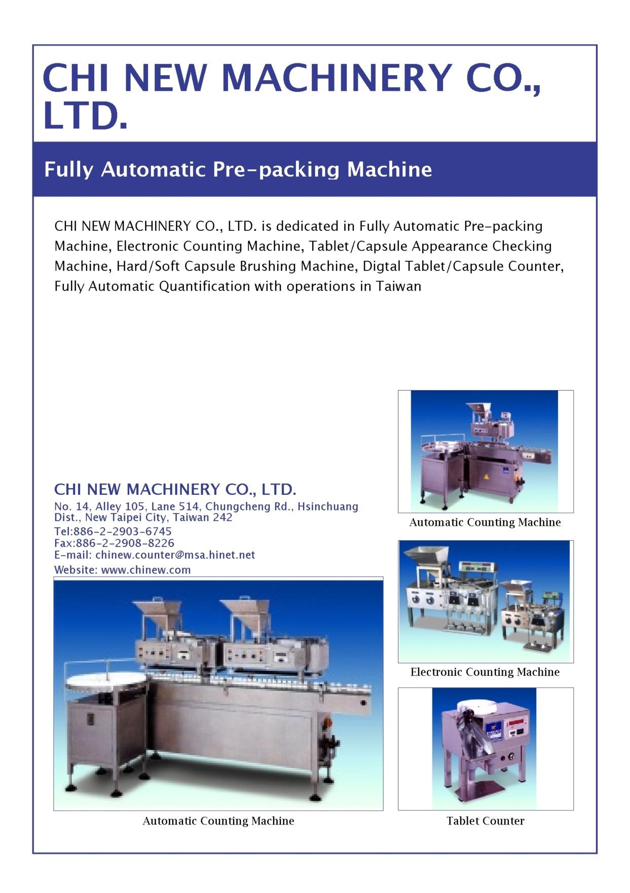 CHI NEW MACHINERY CO., LTD.