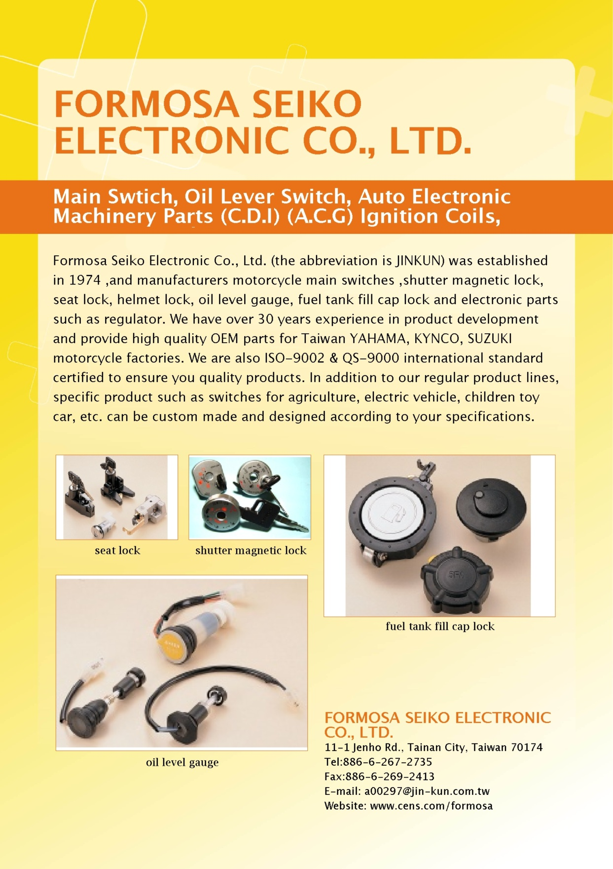 FORMOSA SEIKO ELECTRONIC CO., LTD.