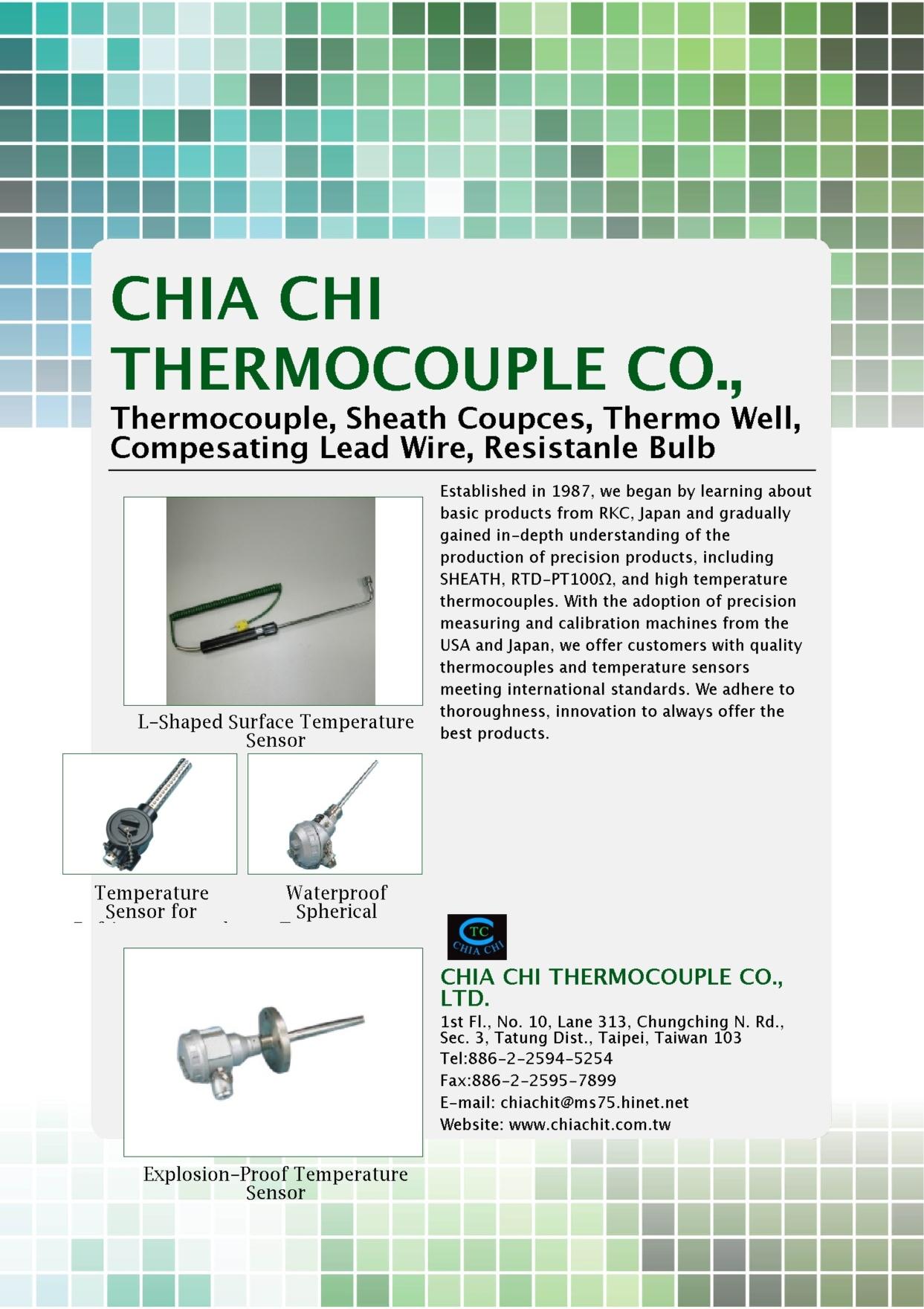 Electronics & Computers E-Magazine CHIA CHI THERMOCOUPLE CO., LTD.