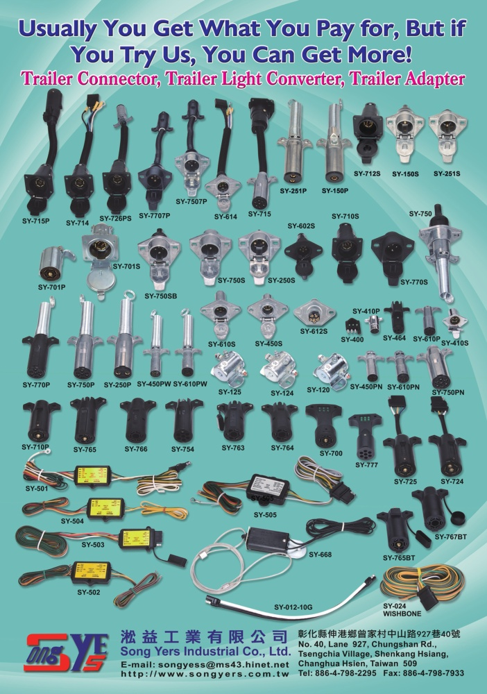 Taiwan Transportation Equipment Guide SONG YERS INDUSTRIAL CO., LTD.