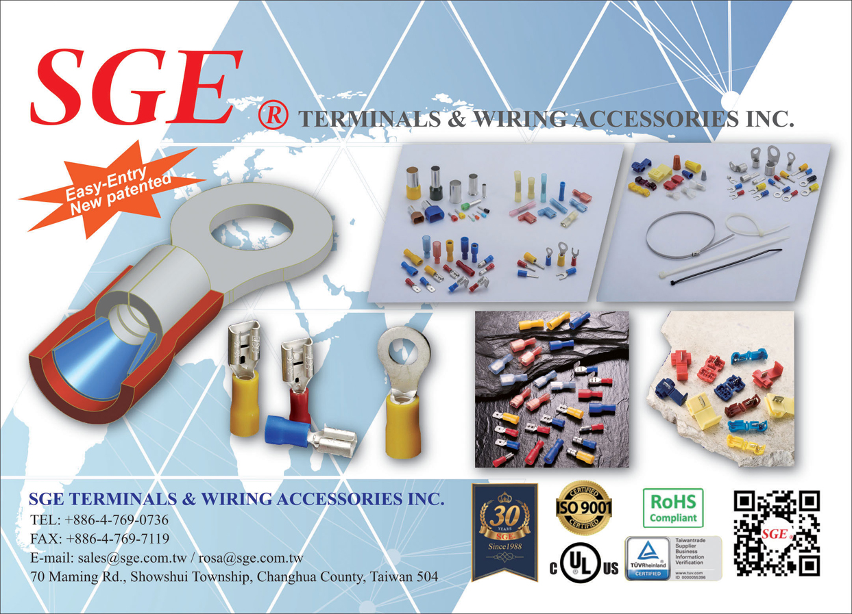 Taiwan Transportation Equipment Guide SGE TERMINALS & WIRING ACCESSORIES INC.