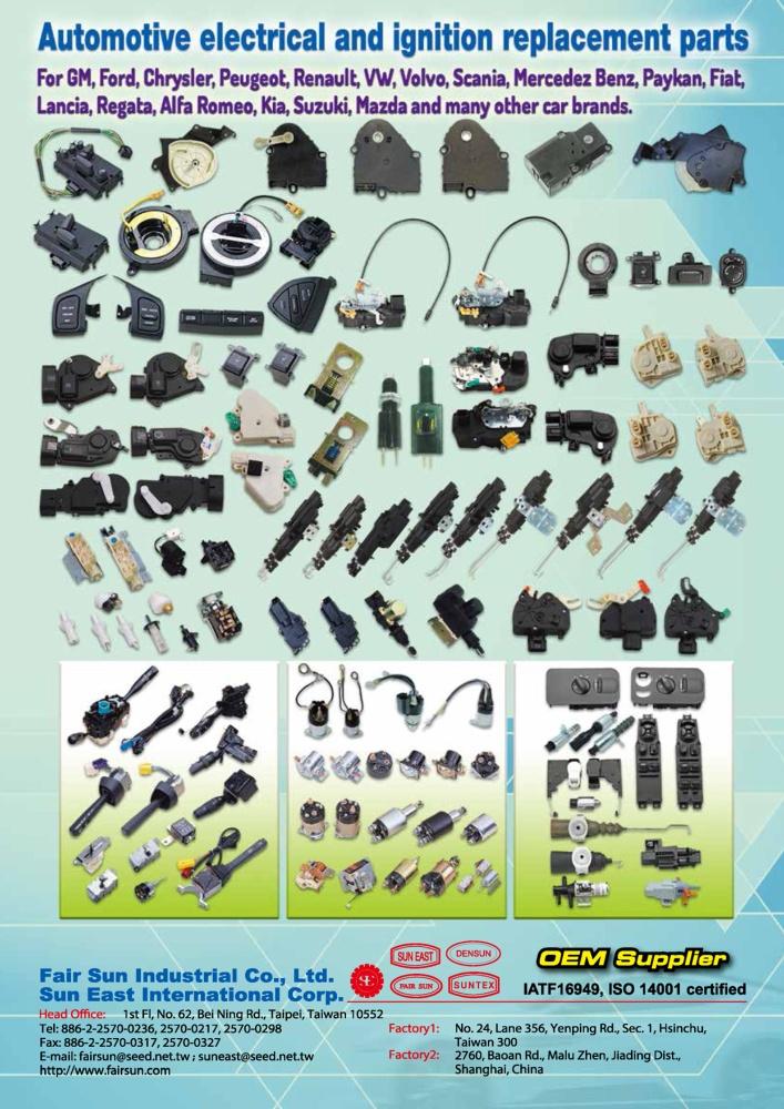 Taiwan Transportation Equipment Guide FAIR SUN INDUSTRIAL CO., LTD.