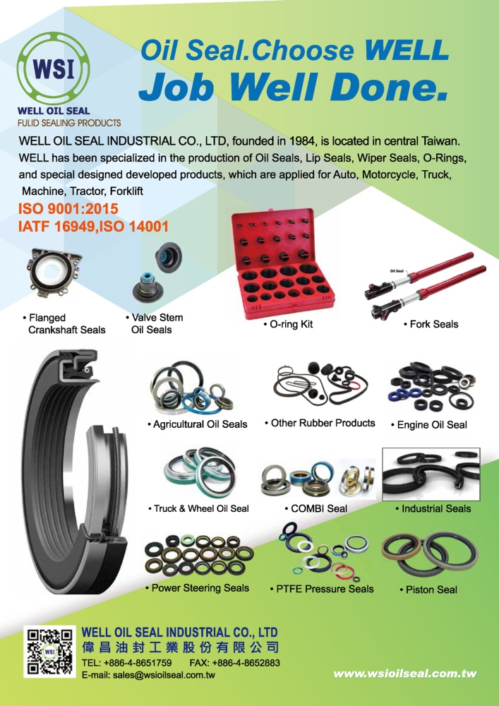 Taiwan Transportation Equipment Guide WELL OIL SEAL INDUSTRIAL CO., LTD.