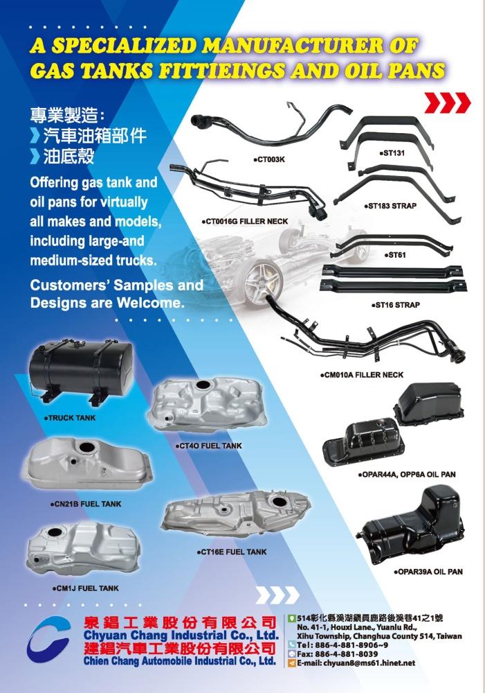 TTG-Taiwan Transportation Equipment Guide CHYUAN CHANG INDUSTRIAL CO., LTD.