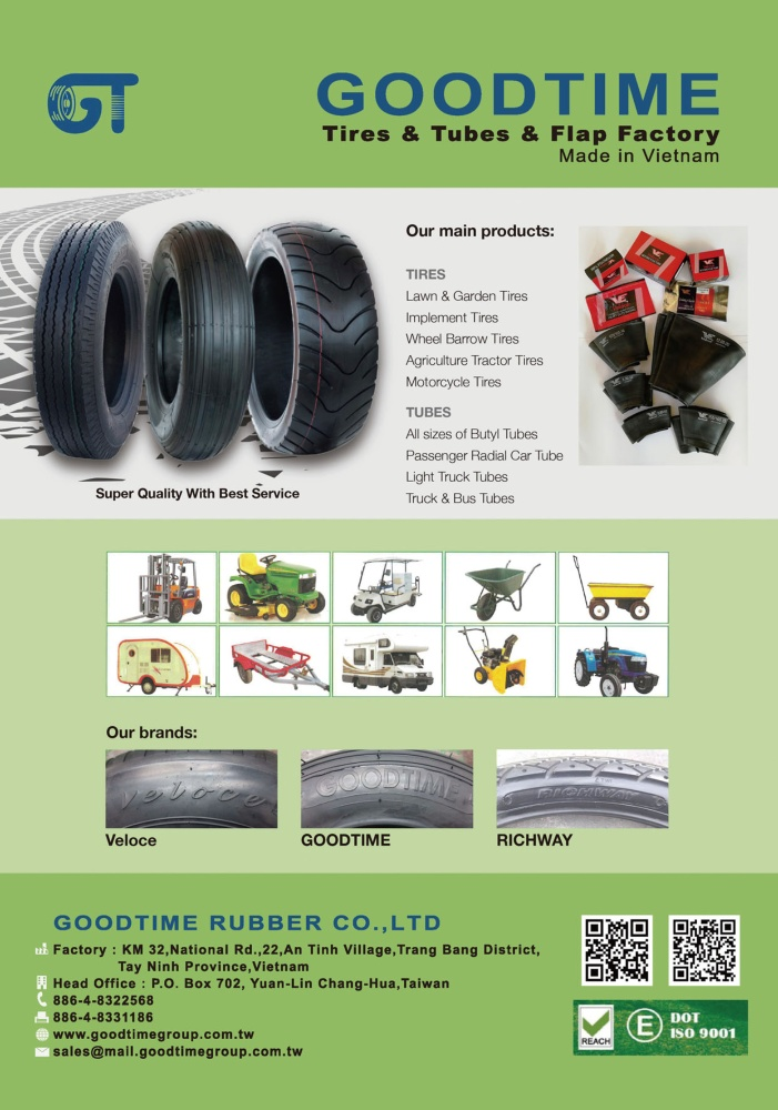 TTG-Taiwan Transportation Equipment Guide GOODTIME RUBBER CO., LTD.