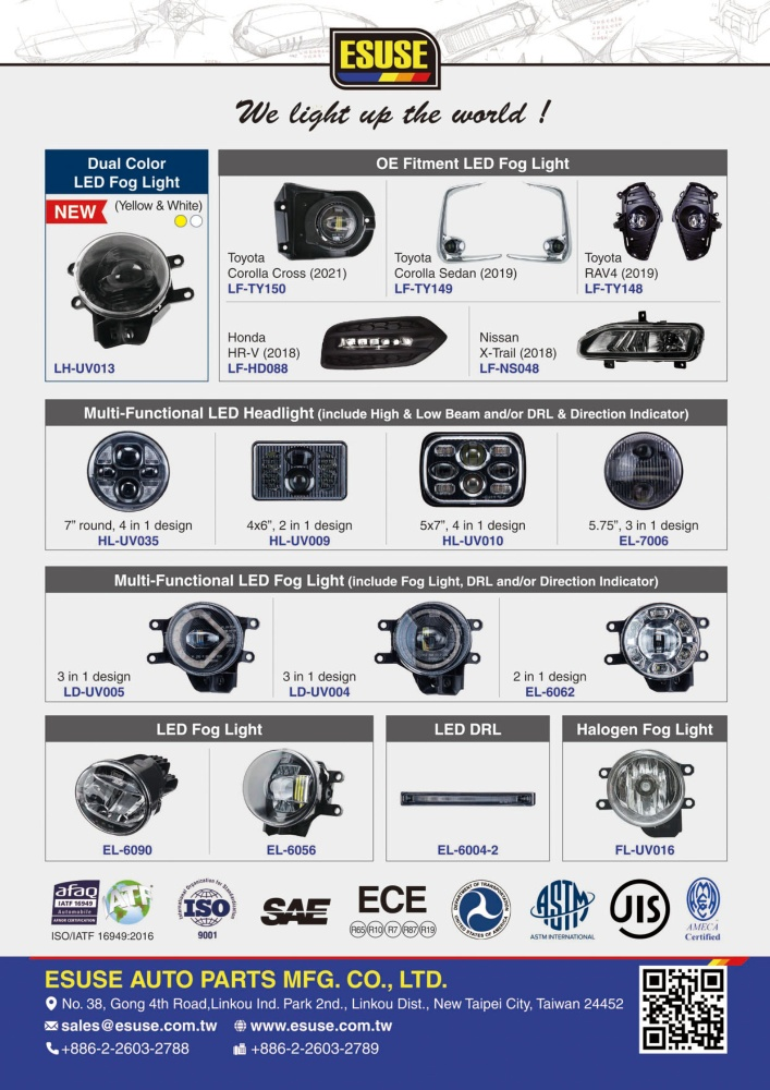 TTG-Taiwan Transportation Equipment Guide ESUSE AUTO PARTS MFG. CO., LTD.