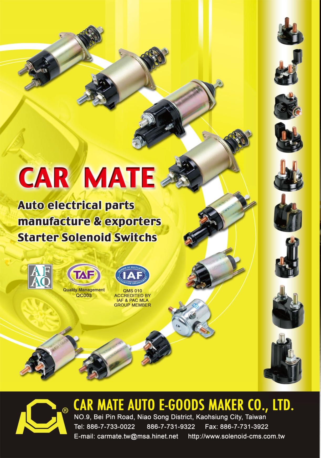 TTG-Taiwan Transportation Equipment Guide CAR MATE AUTO E-GOODS MAKER CO., LTD.