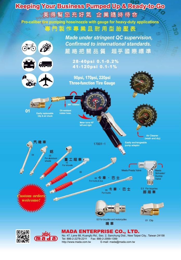 TTG-Taiwan Transportation Equipment Guide MADA ENTERPRISE CO., LTD.