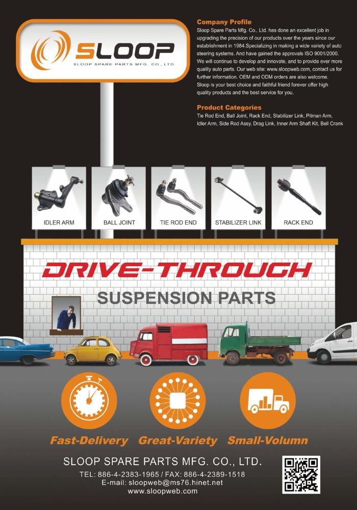 TTG-Taiwan Transportation Equipment Guide SLOOP SPARE PARTS MFG. CO., LTD.