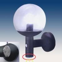 Sphere PIR Outdoor Lantern with 3-LED Nightlight