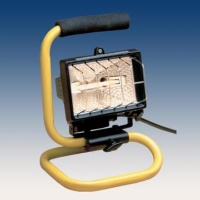 500W Portable Halogen Worklight with Cast Aluminum Housing
