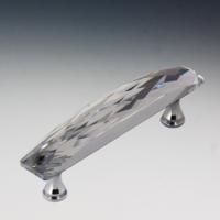 Crystal Handle with Brass Base