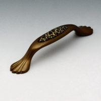 Ceramic Cabinet Handle With Die Cast Base