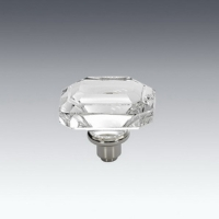 Crystal Door Handle With Solid Brass Base