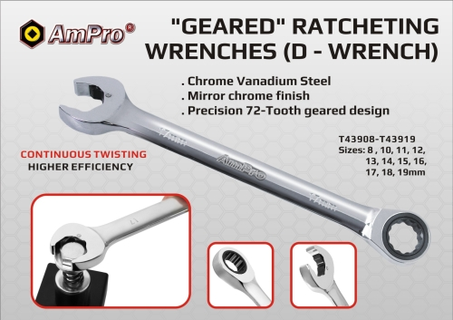 GEARED RATCHETING WRENCH