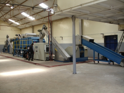 PP, PE film Crusher, washing & de-watering system