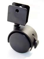 50mm Nylon Caster With Brake And U-Type Plate