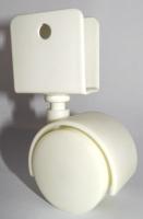 40mm Furniture Caster (White)