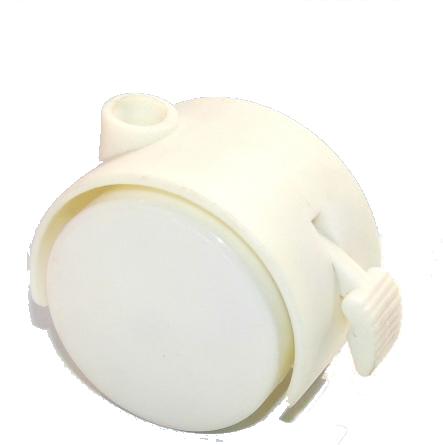 50mm剎車家具輪(白色)