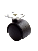 30mm Caster With Square Plate