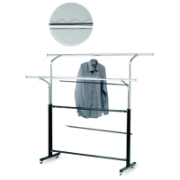 Two-rail Garment Rack w/iron Legs And Casters
