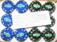 40MM COMPASS SLIDING BALL IN BLUE AND BLACK COLOR