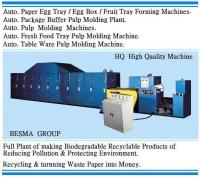 自動 紙漿模塑 環保 蛋盤 / 蛋盒 / 超市生鮮包材 整廠 機械設備