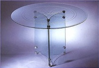 Round Engraved Dining Table