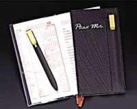 Pocket Note Book with Bookmark Ball Pen