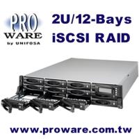 2U 12Bay iSCSI ━ 6G SAS/SATA 磁碟阵列系统
