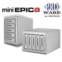 """miniEPICa 系列 (3.5"""" 桌上型 5 Bays USB 3.0, eSATA, 1394b - SATA 磁碟陣列系統)"""
